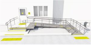 Схема обеспечения доступности здания для инвалидов